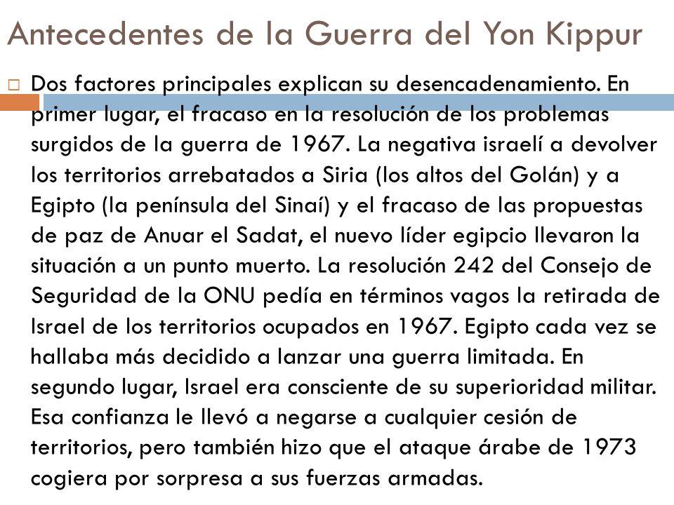 Antecedentes de la Guerra del Yon Kippur