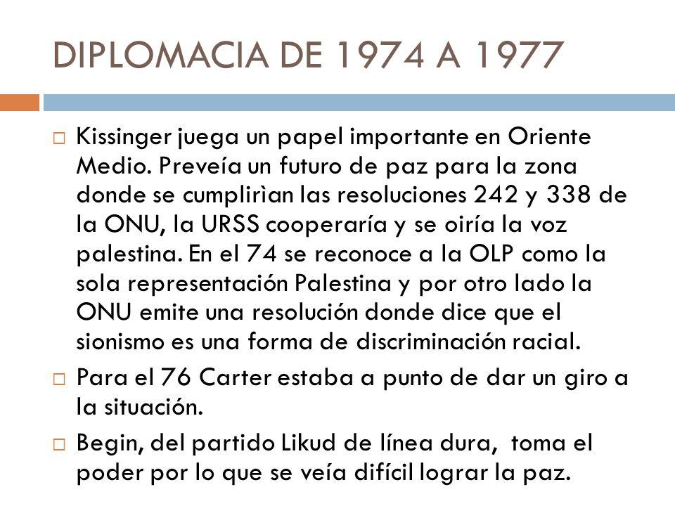 DIPLOMACIA DE 1974 A 1977