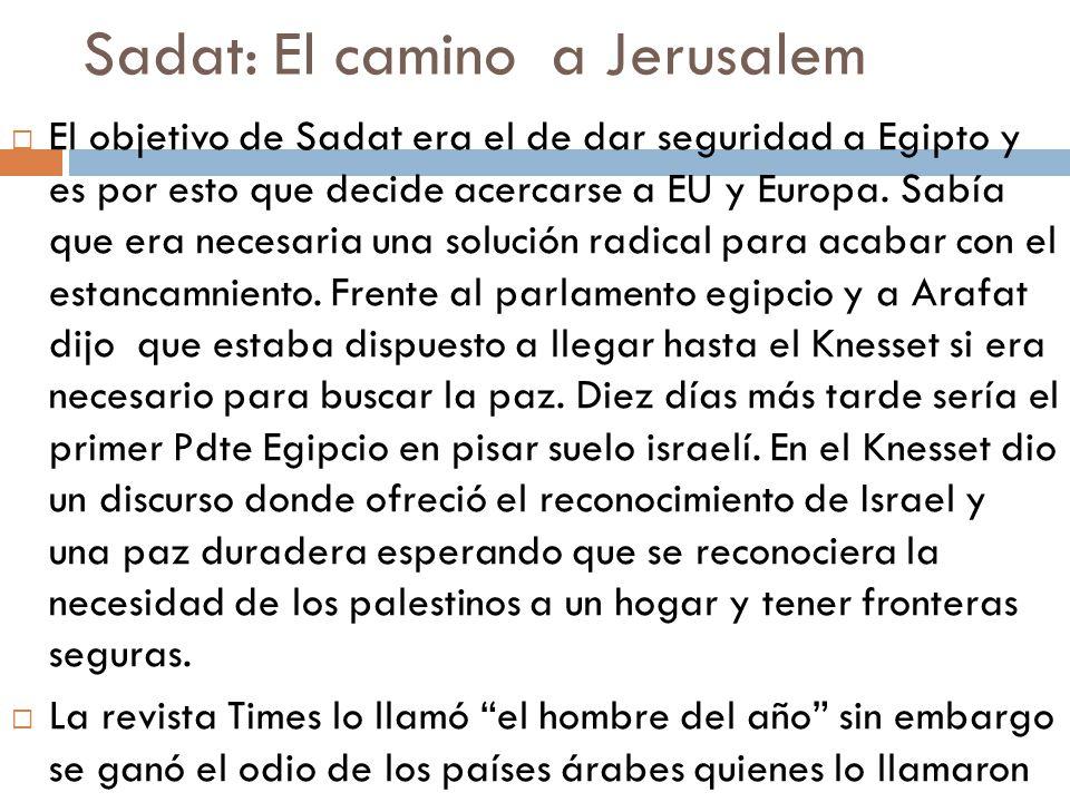 Sadat: El camino a Jerusalem