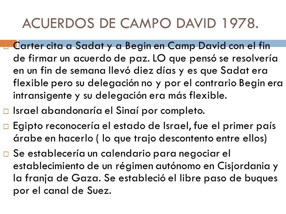 ACUERDOS DE CAMPO DAVID 1978.