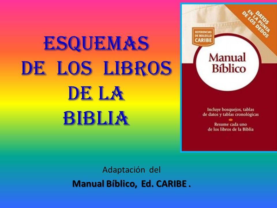 ESQUEMAS DE LOS LIBROS de la biblia