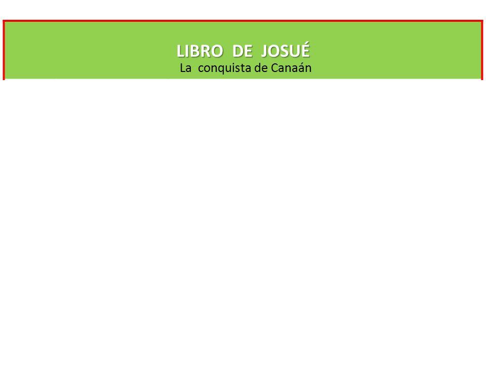 LIBRO DE JOSUÉ La conquista de Canaán Conquista de Canaán