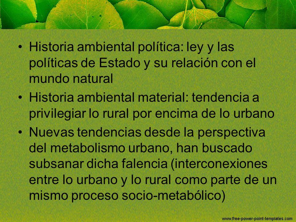 Historia ambiental política: ley y las políticas de Estado y su relación con el mundo natural
