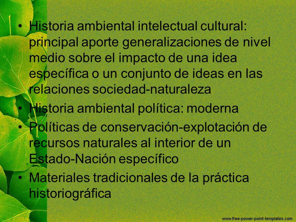 Historia ambiental política: moderna