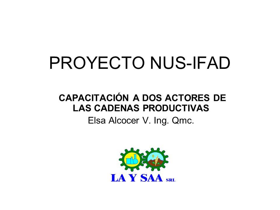 CAPACITACIÓN A DOS ACTORES DE LAS CADENAS PRODUCTIVAS