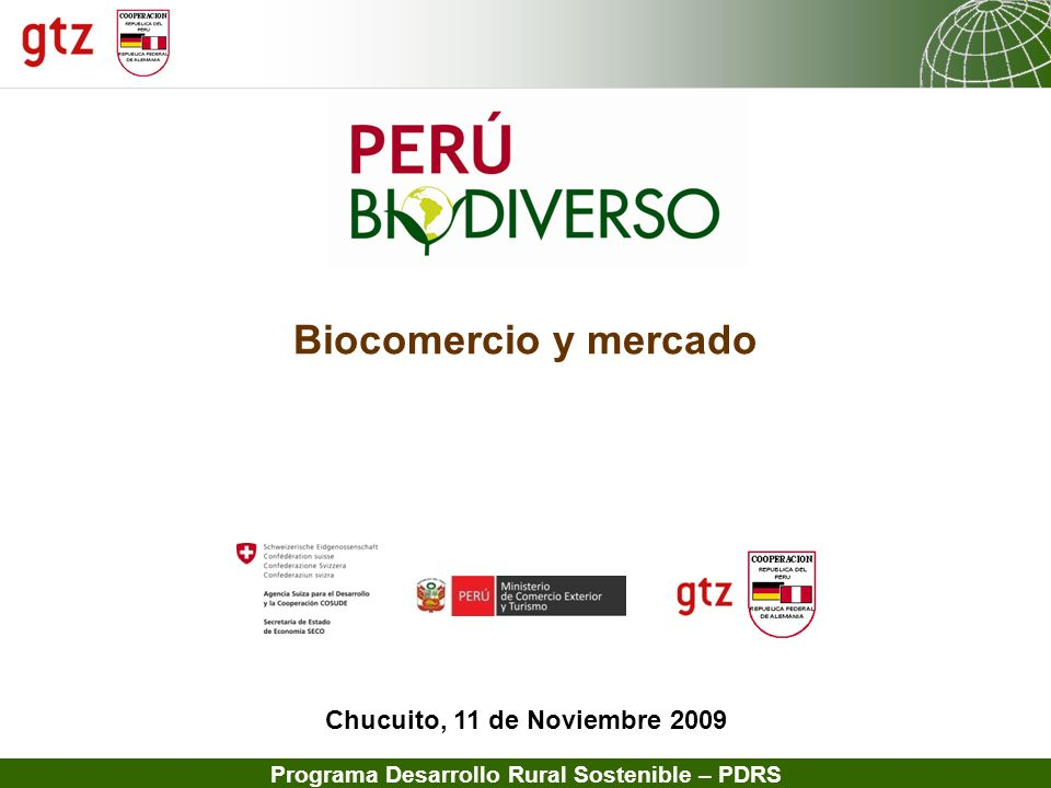 Biocomercio y mercado Chucuito, 11 de Noviembre 2009