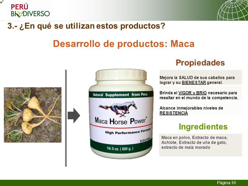 3.- ¿En qué se utilizan estos productos