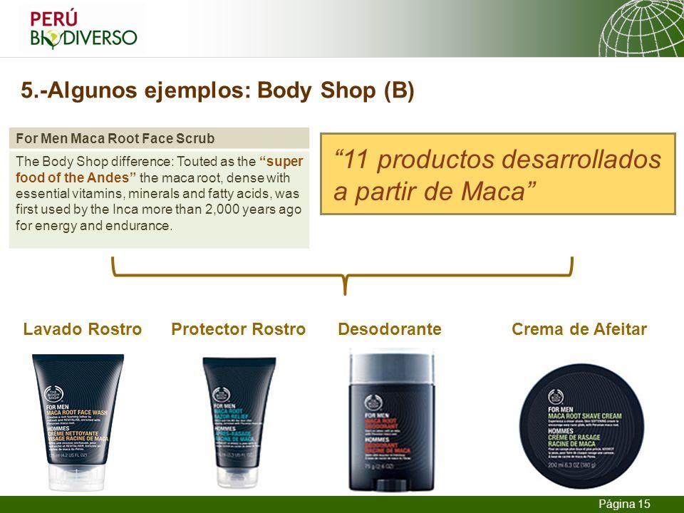 5.-Algunos ejemplos: Body Shop (B)