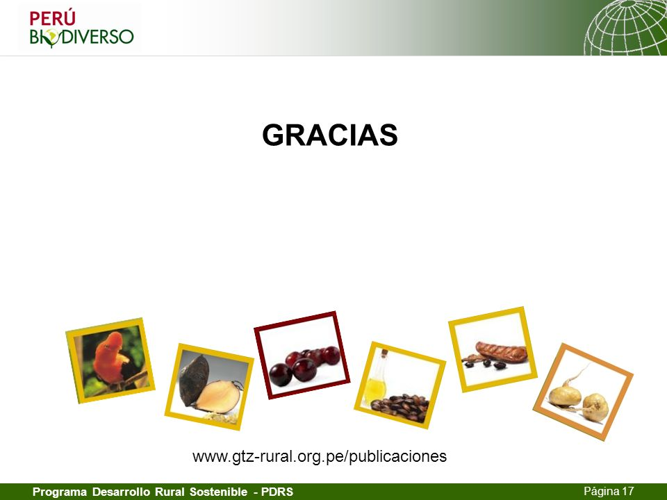 GRACIAS www.gtz-rural.org.pe/publicaciones