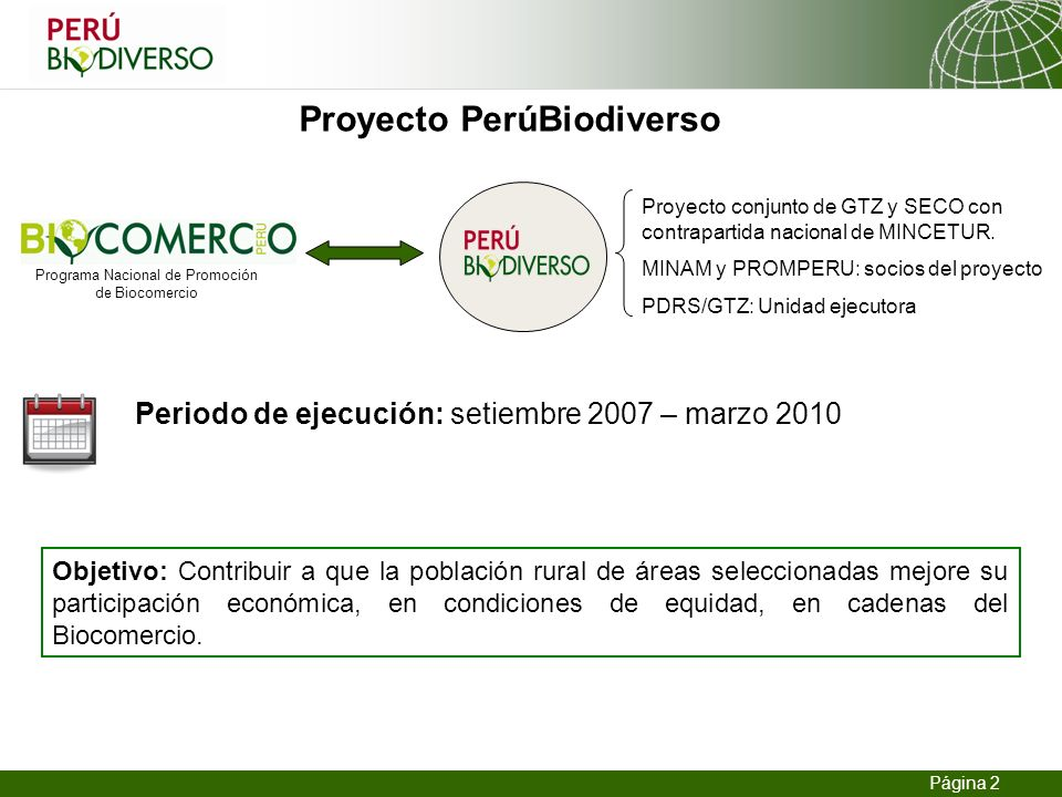 Proyecto PerúBiodiverso