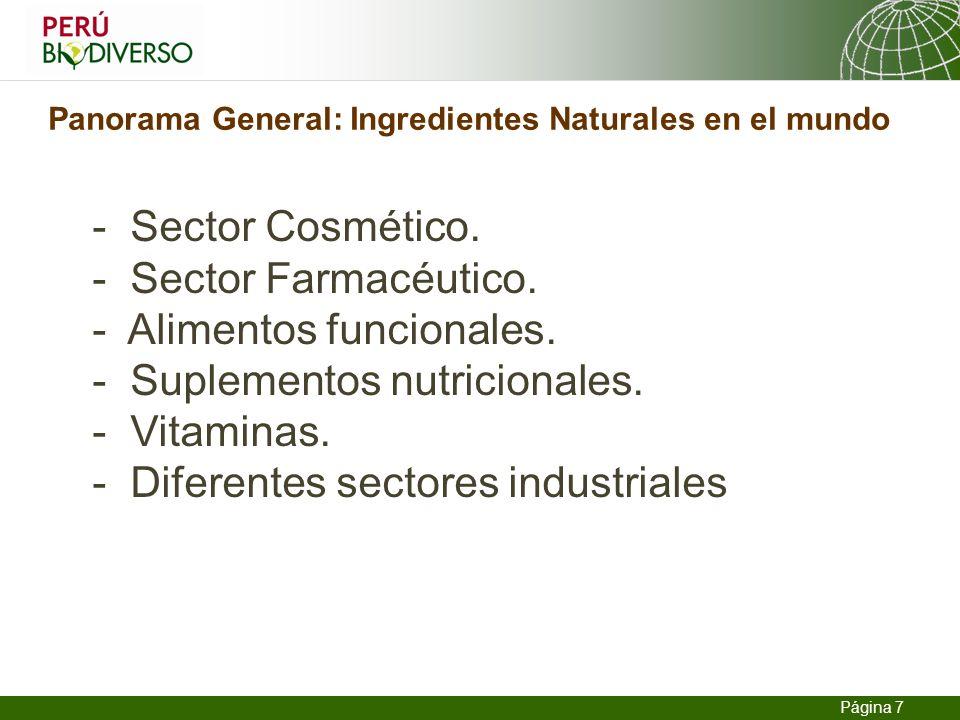 Panorama General: Ingredientes Naturales en el mundo