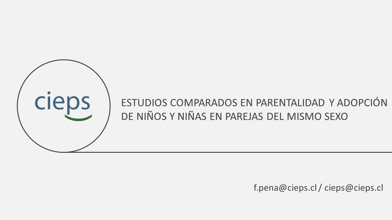 ESTUDIOS COMPARADOS EN PARENTALIDAD Y ADOPCIÓN DE NIÑOS Y NIÑAS EN PAREJAS DEL MISMO SEXO
