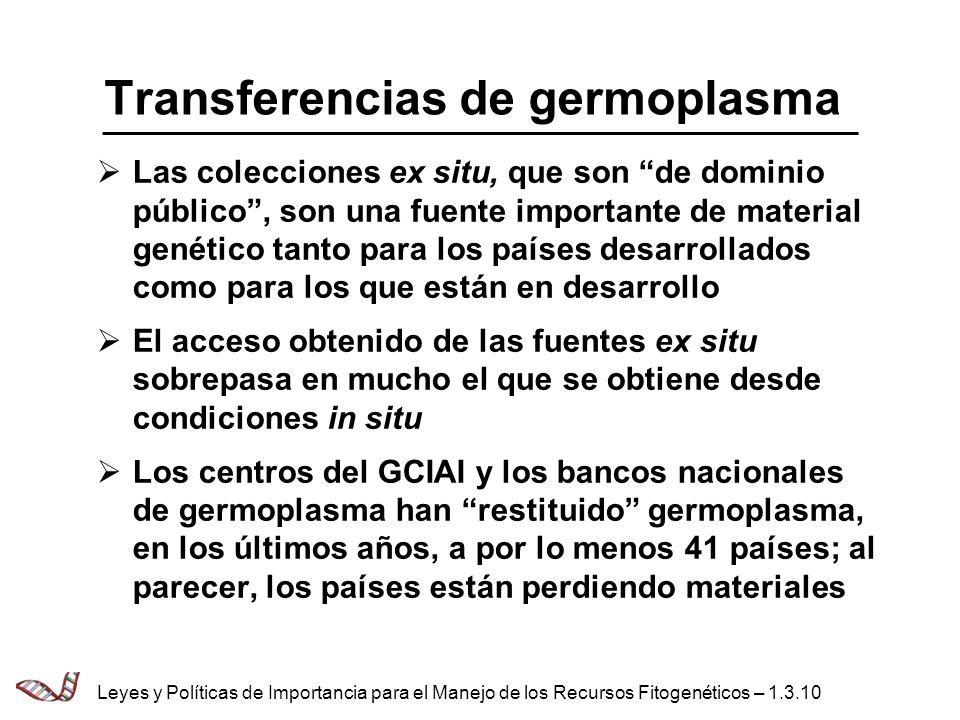 Transferencias de germoplasma