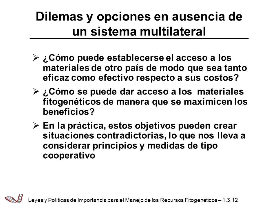 Dilemas y opciones en ausencia de un sistema multilateral