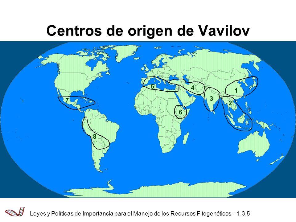 Centros de origen de Vavilov