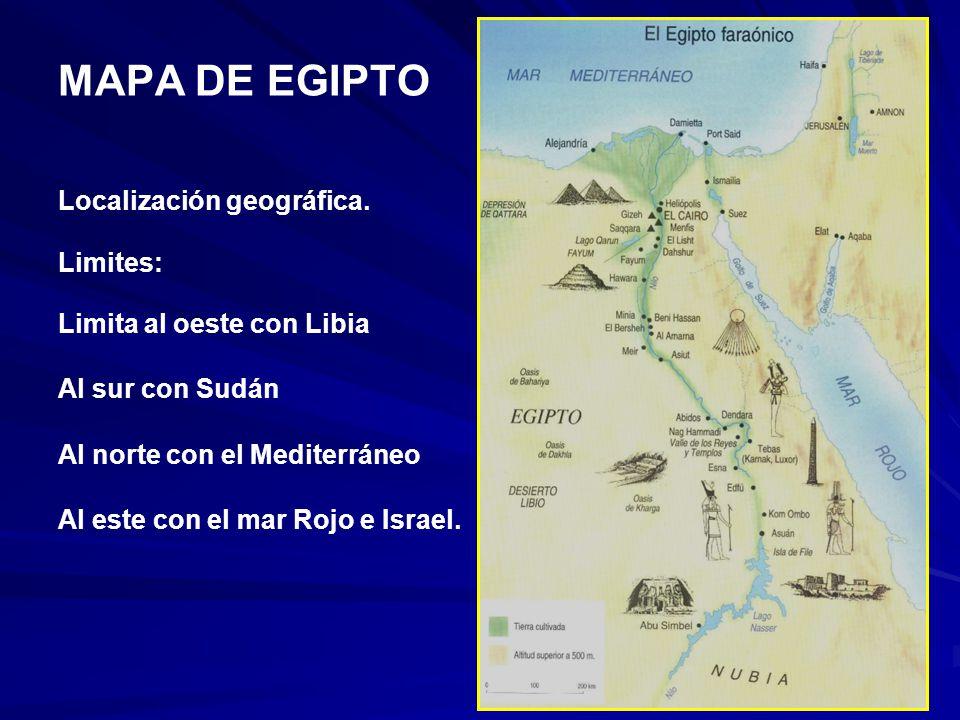 MAPA DE EGIPTO Localización geográfica. Limites: