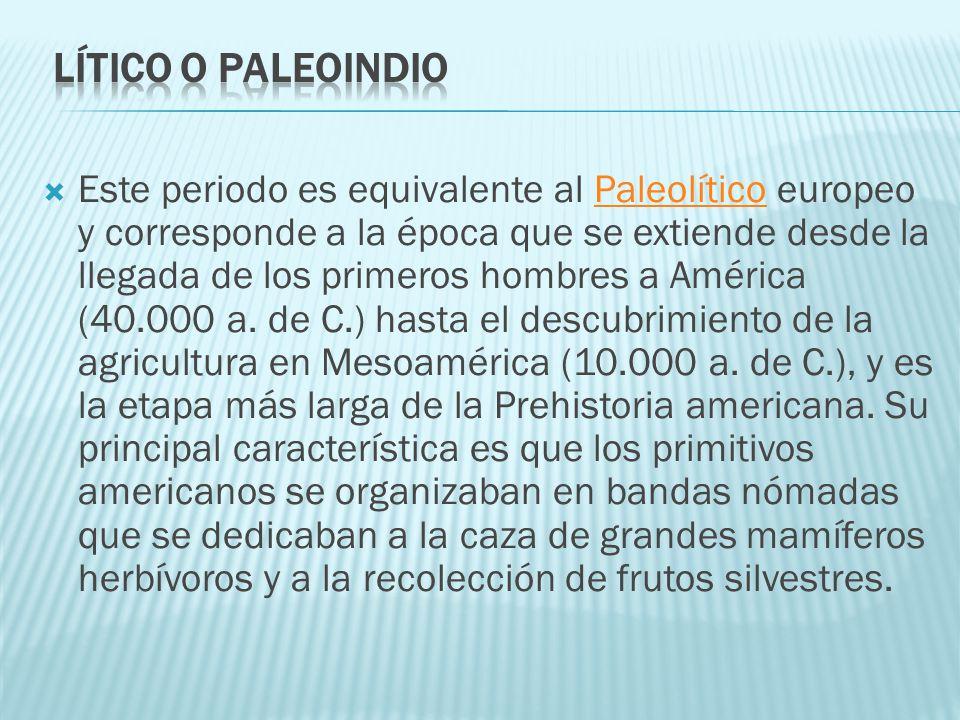 lítico o Paleoindio
