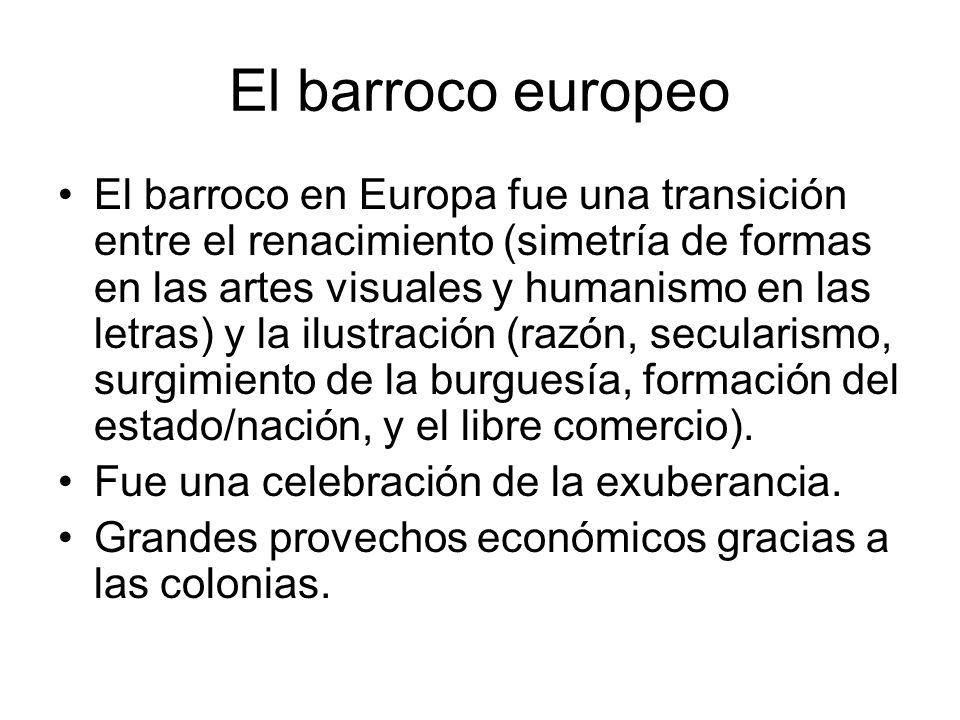 El barroco europeo