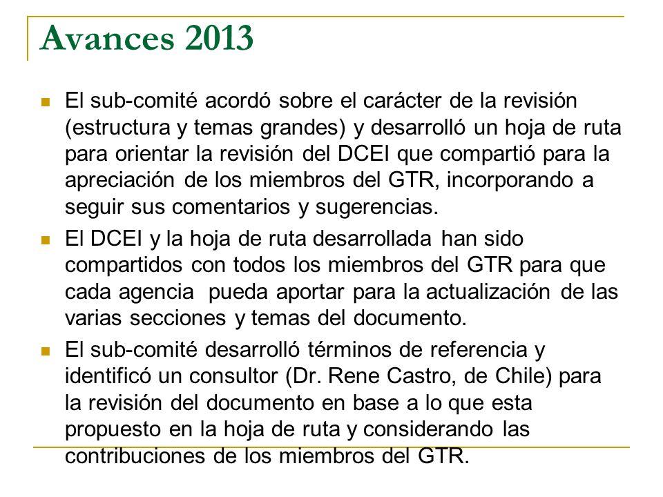 Avances 2013