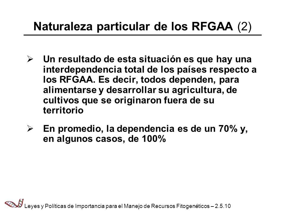 Naturaleza particular de los RFGAA (2)