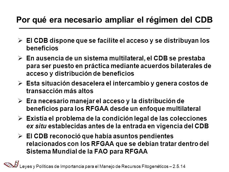 Por qué era necesario ampliar el régimen del CDB