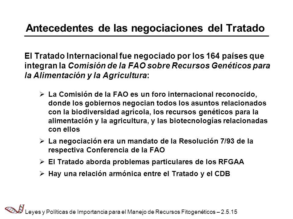 Antecedentes de las negociaciones del Tratado