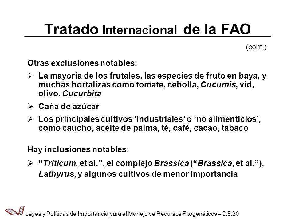 Tratado Internacional de la FAO