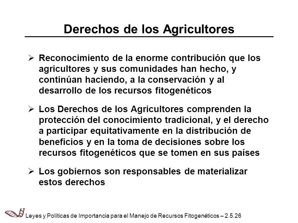 Derechos de los Agricultores