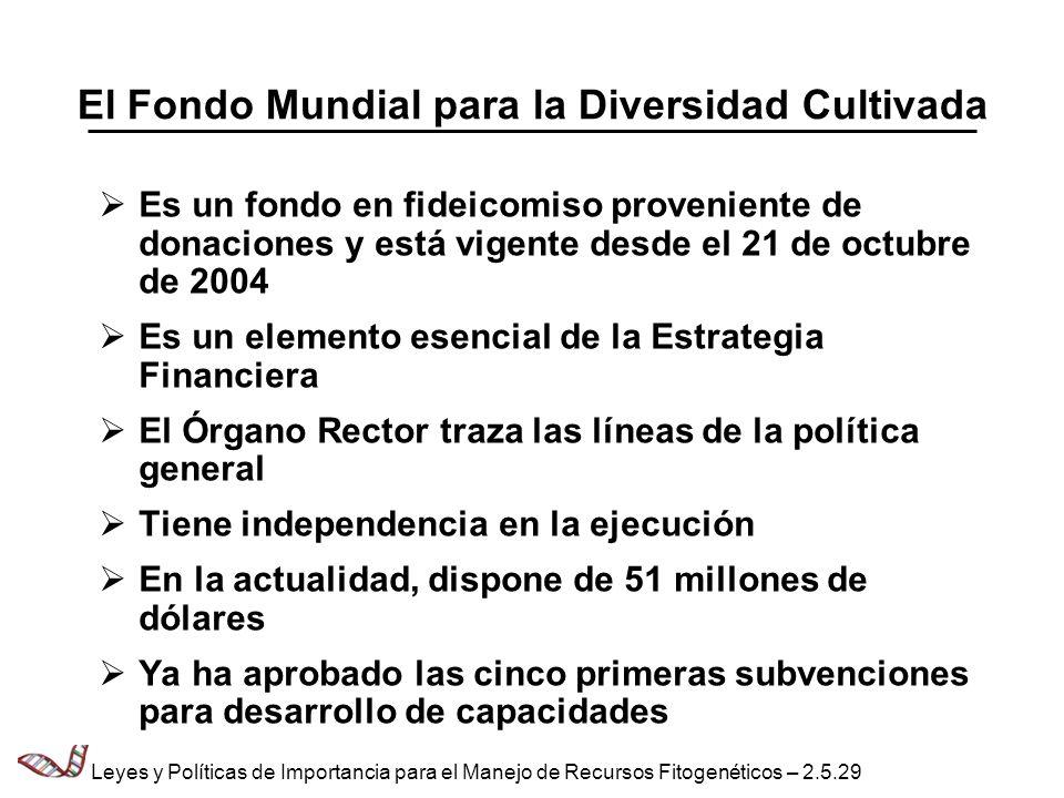 El Fondo Mundial para la Diversidad Cultivada