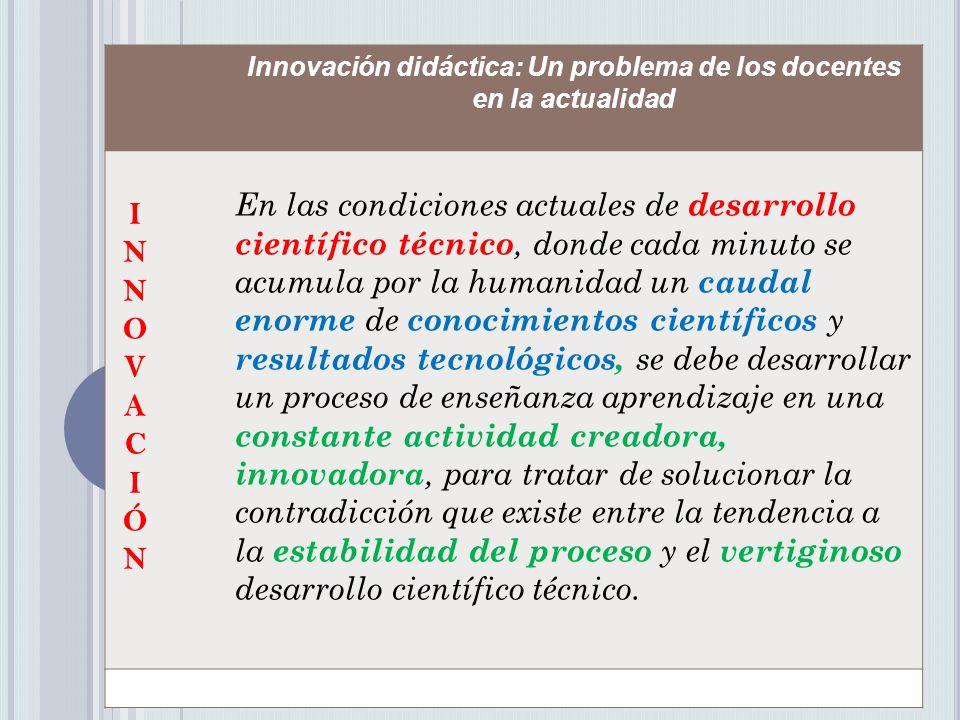 Innovación didáctica: Un problema de los docentes en la actualidad
