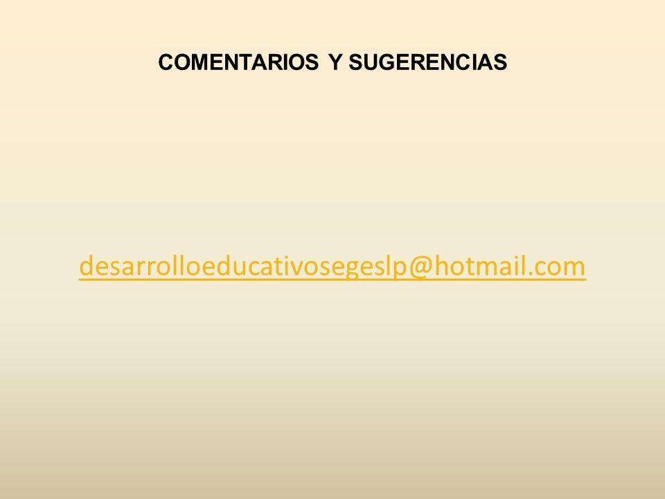 COMENTARIOS Y SUGERENCIAS