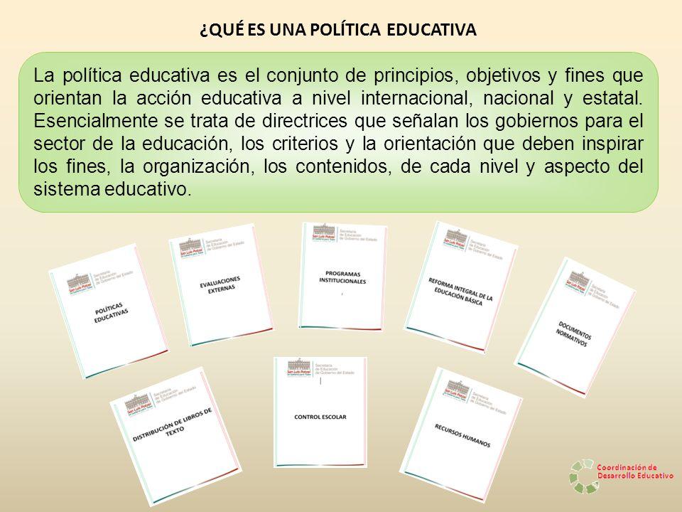 ¿QUÉ ES UNA POLÍTICA EDUCATIVA