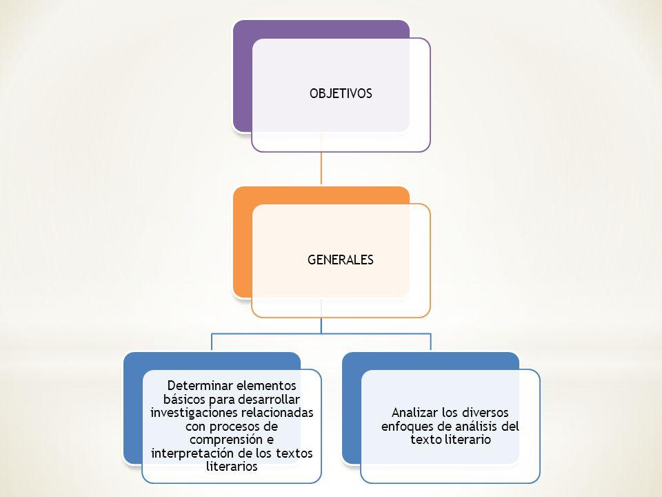 Analizar los diversos enfoques de análisis del texto literario