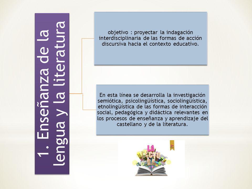 1. Enseñanza de la lengua y la literatura