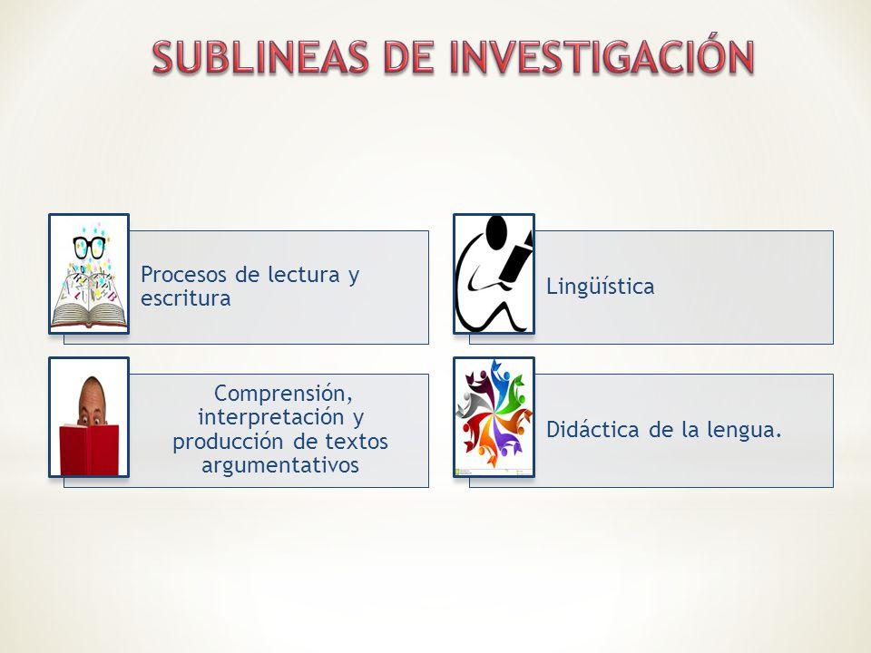 SUBLINEAS DE INVESTIGACIÓN