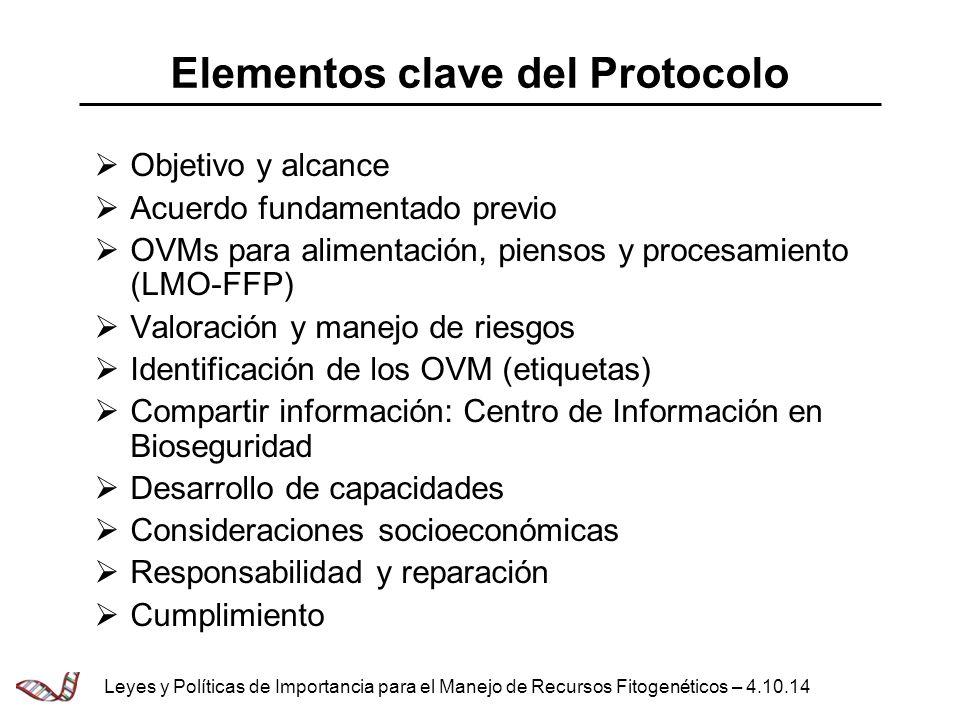 Elementos clave del Protocolo
