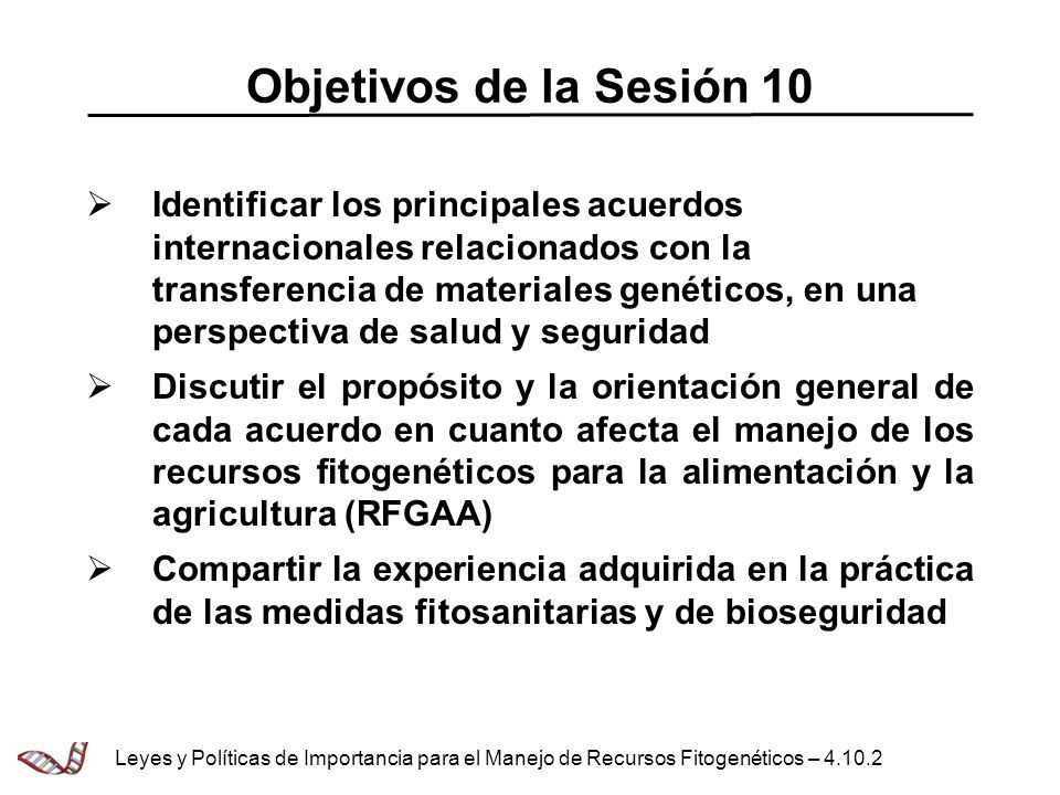 Objetivos de la Sesión 10
