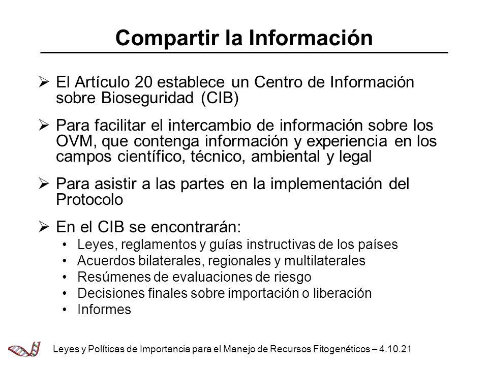 Compartir la Información