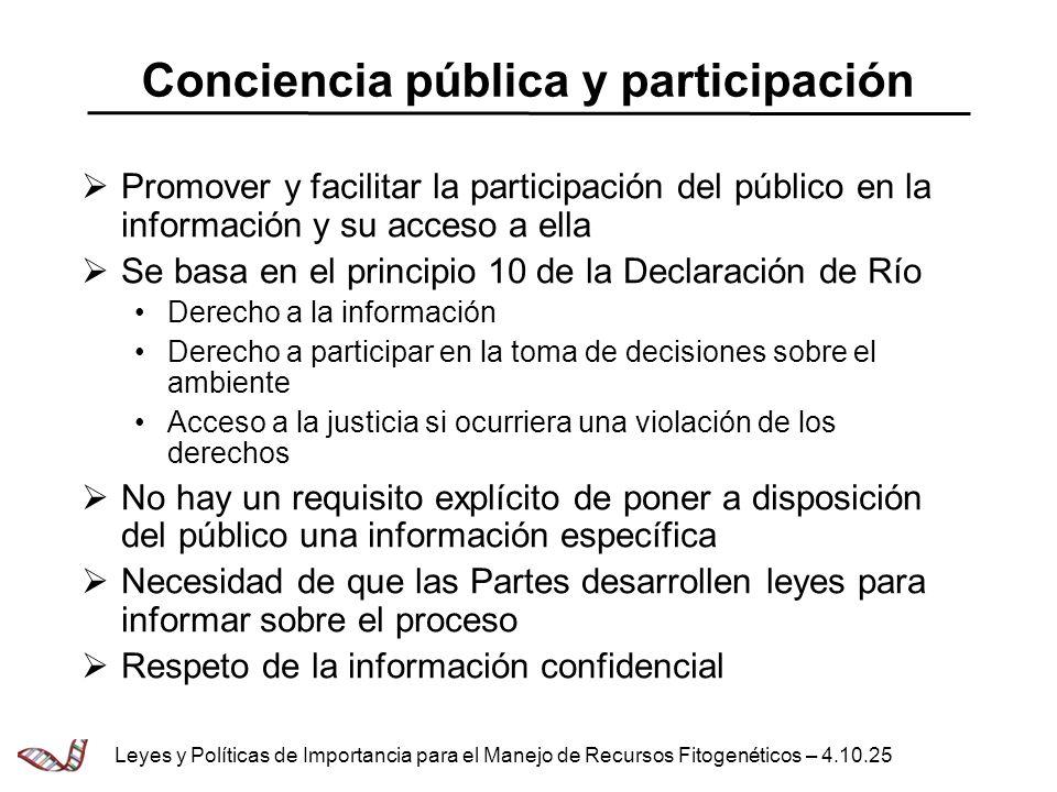 Conciencia pública y participación