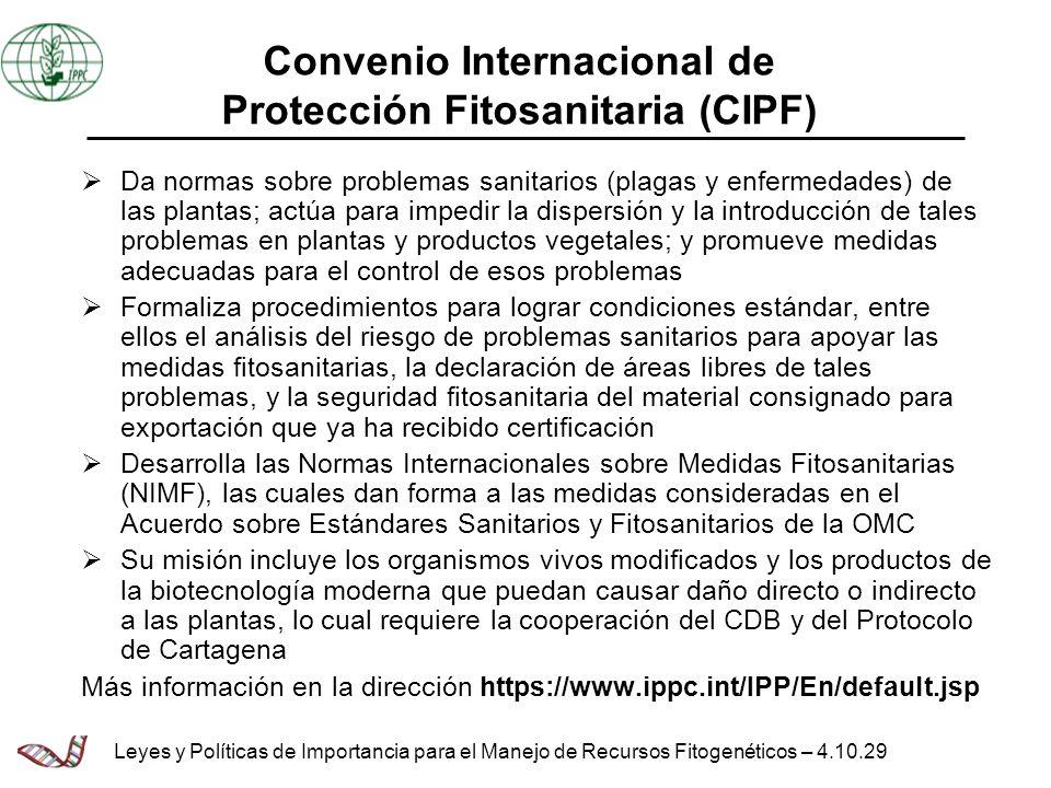 Convenio Internacional de Protección Fitosanitaria (CIPF)
