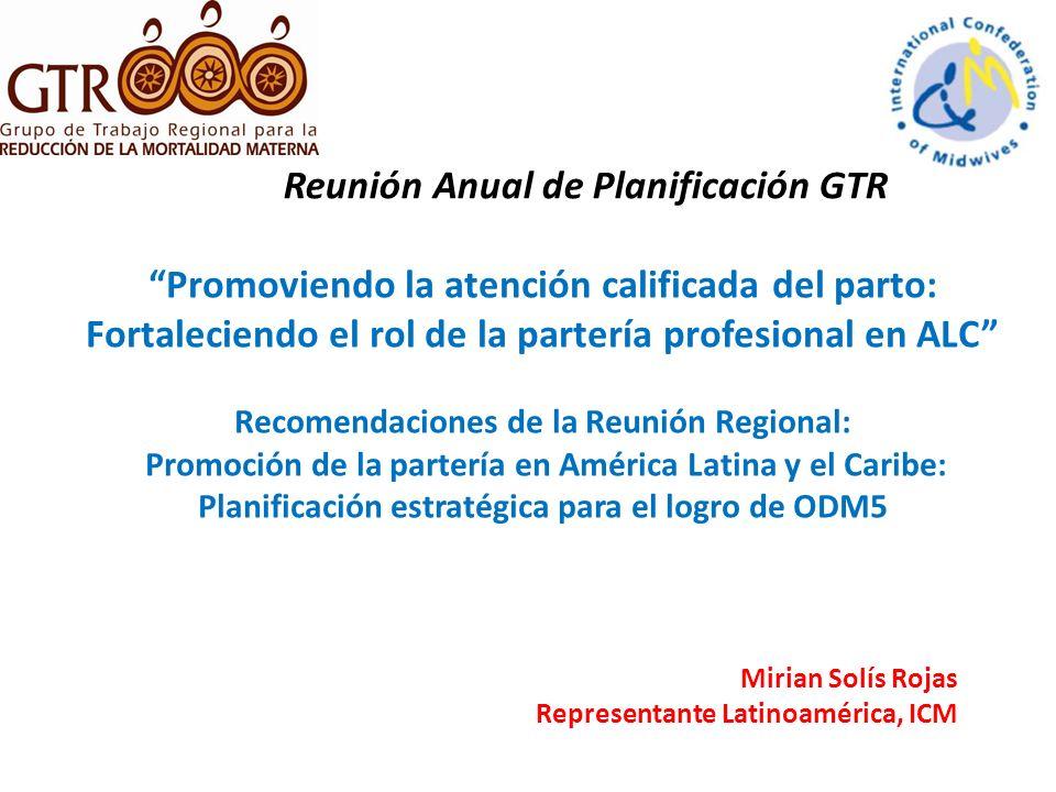 Reunión Anual de Planificación GTR