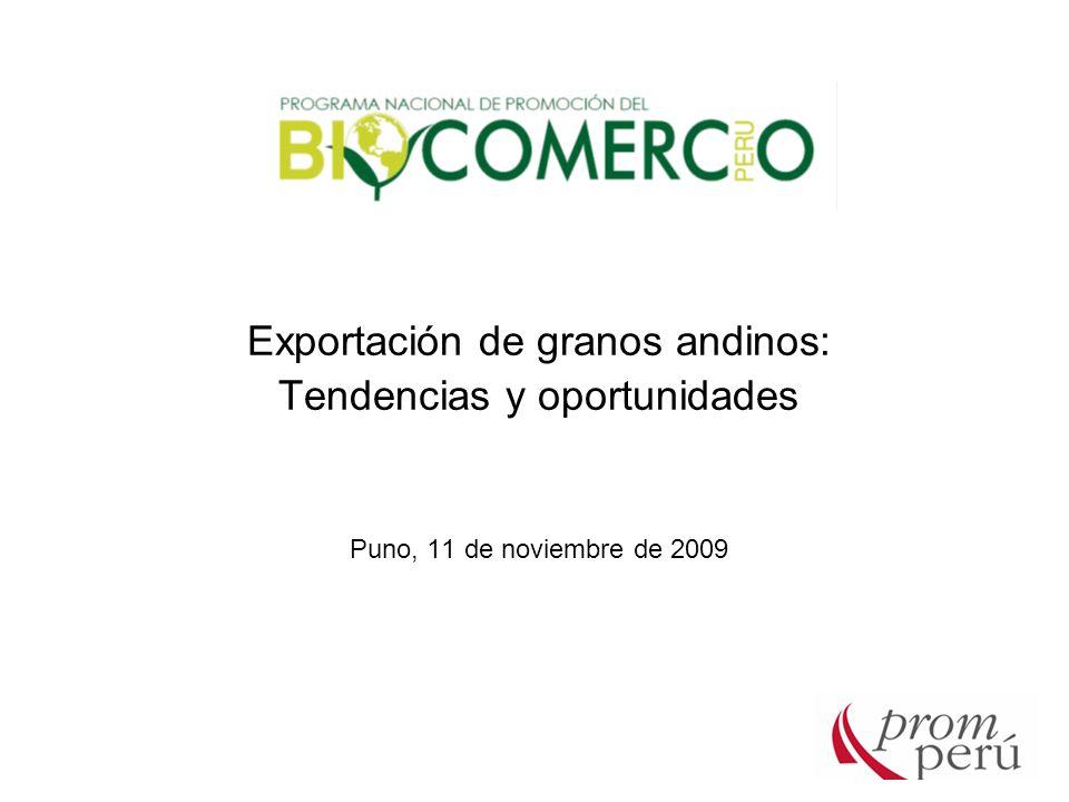 Exportación de granos andinos: Tendencias y oportunidades