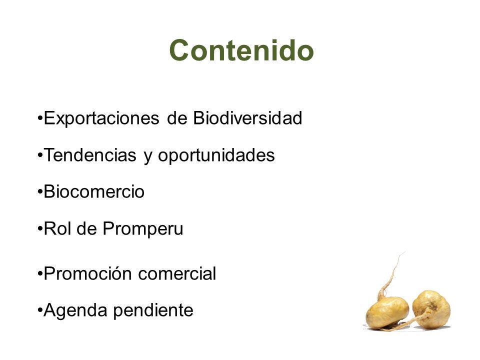 Contenido Exportaciones de Biodiversidad Tendencias y oportunidades