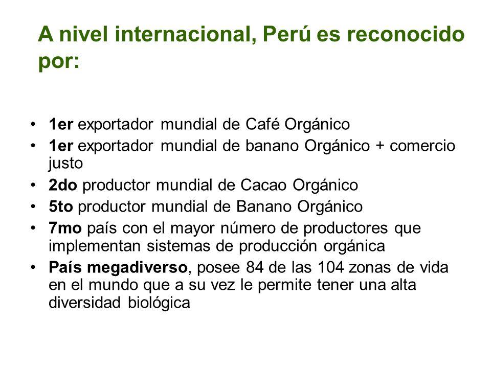 A nivel internacional, Perú es reconocido por: