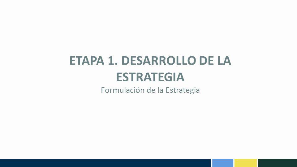ETAPA 1. DESARROLLO DE LA ESTRATEGIA