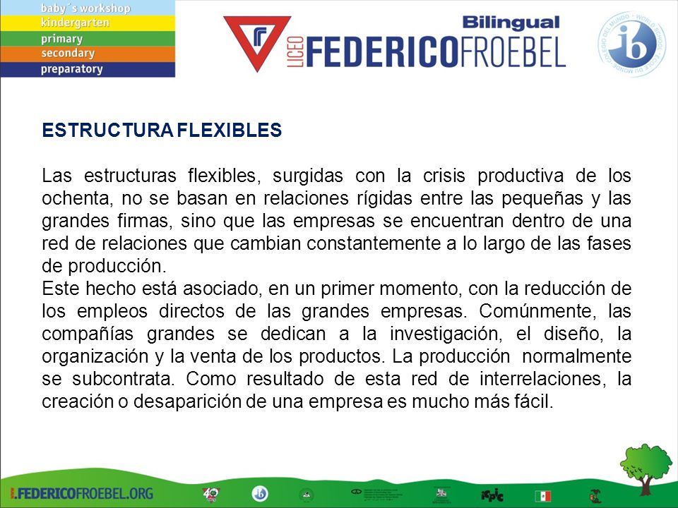 ESTRUCTURA FLEXIBLES