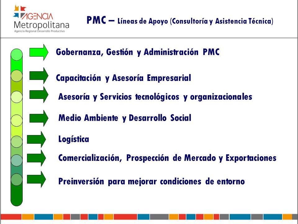 PMC – Líneas de Apoyo (Consultoría y Asistencia Técnica)