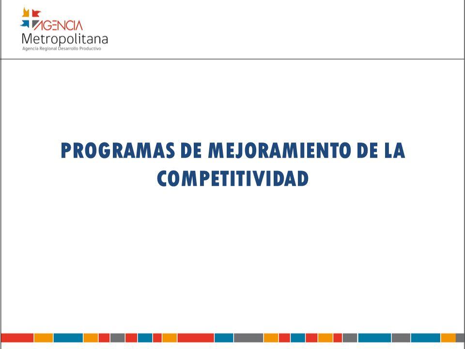 PROGRAMAS DE MEJORAMIENTO DE LA COMPETITIVIDAD