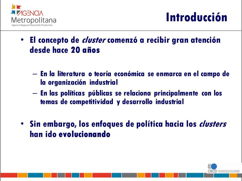 Introducción El concepto de cluster comenzó a recibir gran atención desde hace 20 años.