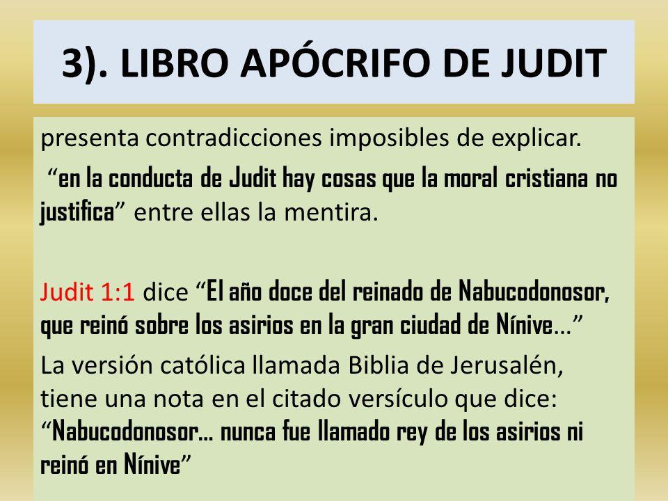 3). LIBRO APÓCRIFO DE JUDIT